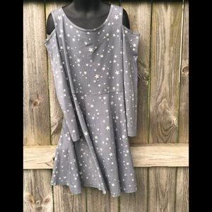 🍭Children's place Cold Shoulder Star Dress L10-12